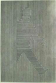Je ziet een mannetje die horizontale lijnen heeft stappen uit de verticale lijnen
