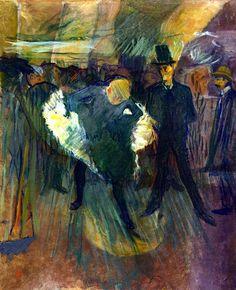 La Goulue and Boneless Valentin (also known as At the Moulin de la Galette) Henri de Toulouse-Lautrec - 1887