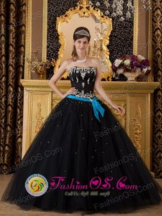 Popular Black Sweet 16 Quinceanera Dress Strapless Beading Taffeta ...