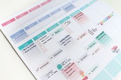 Free weekplanners and stickers