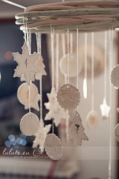 Christmas ideas: DIY / self-drying clay Hanging Advent Calendar..doing this..also clay tutorial for any other ideas...