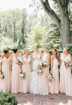 Bridesmaid Dresses, study these spectacularly striking dress example number 1443264534 right here. Bridesmaid Dresses Different Colors, Neutral Bridesmaid Dresses, Beautiful Bridesmaid Dresses, Bridesmaids, Shower Dress For Bride, White Bridal Shower Dress, Bridal Party Dresses, Bridal Gowns, Wedding Dresses