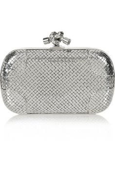lovely bottega veneta  knot sterling silver clutch!