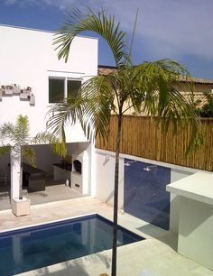 casa condomínio vivendas do bosque - barra da tijuca (bambu ampliando o muro) - projeto Margareth Salles