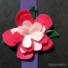 Felt Flower Book Hugger Bookmark | FaveCrafts.com