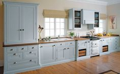 Pale Blue Cleveland - In-Frame traditional kitchen