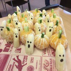 """Bananspöken o """"pumpor"""" fick barnen på fritids till mellis på Halloween"""