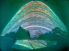 The sun's path, tracked in a year's time with a pinhole camera. Solstice to Solstice Solargraphy 2011. Vince Sellars for Time in a Can Project    #scientific