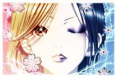 drawing of nana and hachi from the manga NANA. hope you like it i did a photo manipulation of this to picuters [link] [link] Nana and Hachi Manga Anime, Anime Art, Yazawa Ai, Nana Manga, Nana Osaki, Nana T Shirts, Komatsu Nana, Hachiko, Manga Cute