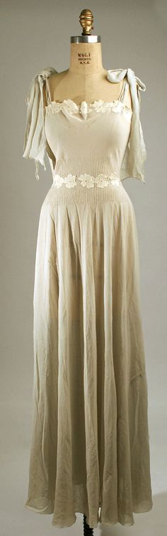 1930s silk nightgown, American or European