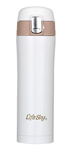 LifeSky Insulated Travel Coffee Mug, Stainless Steel (16 oz), BPA-Free | Lid Lock Prevents Leaks & Spills (White) LifeSky http://www.amazon.com/dp/B00UIS9NCA/ref=cm_sw_r_pi_dp_DskJvb122MY5R