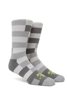 Striped Dri-Fit Crew Socks