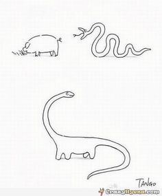 And this is how dinosaurs were made by Tango #Illustration #Cartoon #Humor #Dinosaur