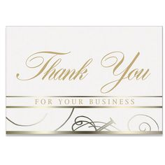 Decorative Business Thank You Card  On The Ball Promotions