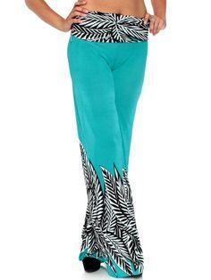 Simplicity Women High Waist Wide Leg Palazzo Pants with Leaf Print, Turquoise, M Simplicity http://www.amazon.com/dp/B00KGOG1U8/ref=cm_sw_r_pi_dp_2Uboub03CW6P4