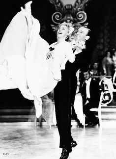 Fred Astaire with his favourite and most famous partner, Ginger Rogers.