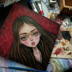 The first of the four was completed paintings was completed. Size 20 × 20 cm. Materials: canvas, oil. This little girl has not completely dried up, but you can already reserve it. For this write to me in direct. #art #popart #oil #girl #artstagram #blackfuryart