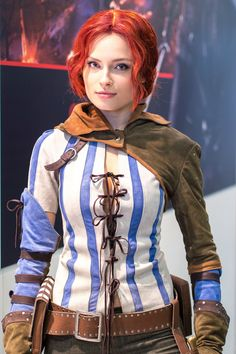 Character: Triss Merigold of Maribor / From: CD Projekt RED's 'The Witcher' Video Game Series / Cosplayer: Unknown
