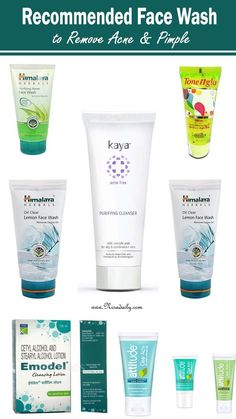 Recommended Face Wash to Remove Acne & Pimple. Best Face Wash, Acne Face Wash, Facial Wash, Natural Acne Treatment, Best Facial Cleanser, Face Cleanser, Best Skincare Products, Acne Products, Beauty