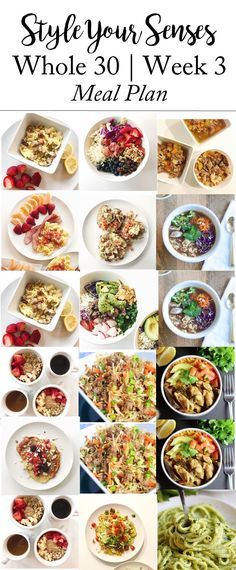 Sharing a Whole 30 Week 2 Update, a recap of every meal that I ate this past week, plus a full meal plan to take you through Week 3!!!