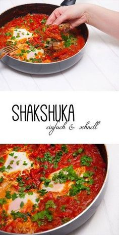 Shakshuka - simple and low in calories - Recipe for Shakshuka easy and fast, very low in calories, low carb! -Recipe Shakshuka - simple and low in calories - Recipe for Shakshuka easy and fast, very low in calories, low carb! Low Carb Recipes, Beef Recipes, Vegetarian Recipes, Chicken Recipes, Healthy Recipes, Quick Recipes, Shrimp Recipes, Law Carb, Shakshuka Recipes
