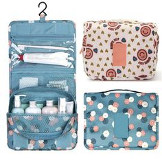 16.28$  Buy now - http://vioqk.justgood.pw/vig/item.php?t=eibdb5953266 - Zipper Hanging Toiletry Bags Floral Pattern Travel Organizer Case Women Cosmetic