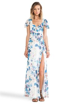Lovers + Friends x REVOLVE The Keeper Maxi in Blue Floral