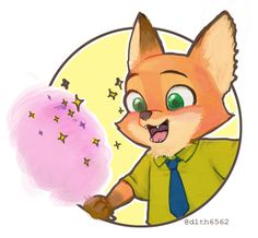 zootopia baby nick with cotton candy