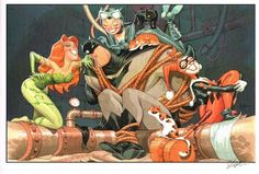 Batman and Gotham City Sirens by Shawn McManus