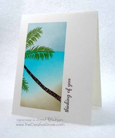 Stampscapes Palm Tree One Layer Creative Scenery Card.  Be sure to check out the video too.