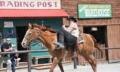 Groupon - Admission for Two or Four with Train Rides or a Season Pass at Wild West City (Up to 45% Off) in Stanhope. Groupon deal price: $27