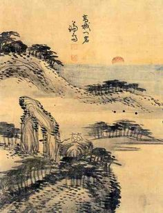 (Korea) 고성 문암 by Gyeomjae Jeong Seon. ca 18th century CE. color on paper.