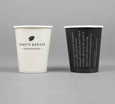 Toby's Estate identity and coffee cups designed by Maud.