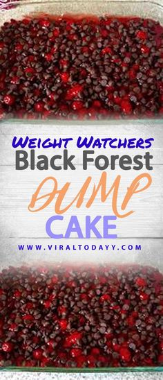 Black Forest Dump Cake – Page 2 – All about Your Power Recipes Healthy Low Calorie Meals, Low Calorie Recipes, Ww Recipes, German Recipes, Weight Watchers Diet, Weight Watchers Desserts, Weigh Watchers, Diet Cake, Ww Desserts