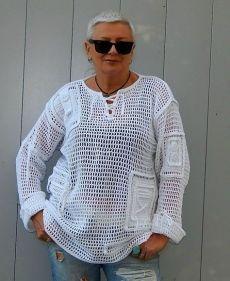 Black Crochet Dress, Crochet Blouse, Knit Crochet, Crochet Hats, Moda Crochet, Shrugs And Boleros, Crochet Tablecloth, Vintage Crochet, Festival Outfits
