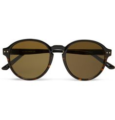 """Linda Farrow Luxe Round-Frame Acetate Sunglasses """"retro meets rock 'n roll cool"""""""