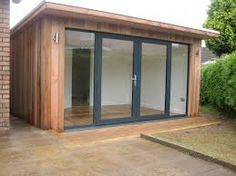 SMARTSPACES pride ourselves in providing our garden room products at the best possible price. Backyard Office, Backyard Studio, Backyard Sheds, Garden Studio, Garden Office, Backyard Patio, Shed Design, Tiny House Design, Aluminium French Doors