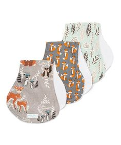 This Woodland Baby Burp Cloth Set is perfect! #zulilyfinds