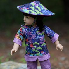 Water Lilies Chinese Dance Costume for American Girl Doll