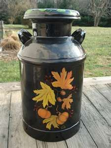 antique milk can painted