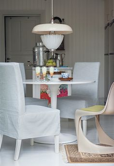 The Dining Room On Pinterest Chair Covers Hens And Urban Style