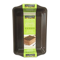 casaWare Excel 9 X 13 x 2Inch Rectangular Cake Pan Ceramic Coated NonStick Brown Granite * Continue to the product at the affiliate link Amazon.com.