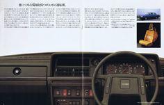 Volvo 240 GLE dash. RHD from Japanese brochure