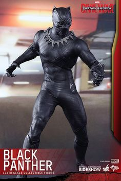 The New Hot Toys 1/6th Scale Black Panther Figure Looks Super Badass