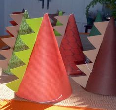 Dinosaur party hats - your guests will transform with these dinosaur party hats which are super easy to make yourself.
