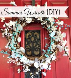 Summer Wreath in Red, White, and Blue - Up to Date Interiors