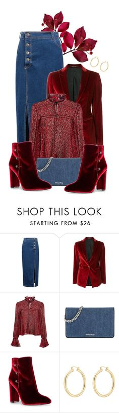 """""""velvet booties"""" by bb-tka ❤ liked on Polyvore featuring WithChic, Tagliatore, Saloni, Miu Miu, Nina, Isabel Marant and velvet"""