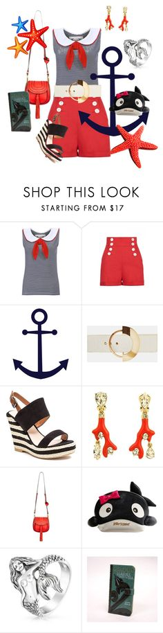 """""""Whale of a Tale"""" by glamourgrammy ❤ liked on Polyvore featuring Tara Starlet, Roksanda, French Blu, Oscar de la Renta, Chloé, Betsey Johnson and Bling Jewelry"""