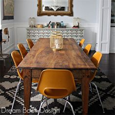 A fun mix of modern and traditional in this dining room tour. (via Dream Book Design)