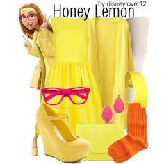 Honey Lemon- Big Hero 6 by disneylover12 on Polyvore featuring Ted Baker, Neiman Marcus, Lauren Ralph Lauren, Eric Javits, Kate Spade, disney, disneybound, newmovie, BigHero6 and honeylemon